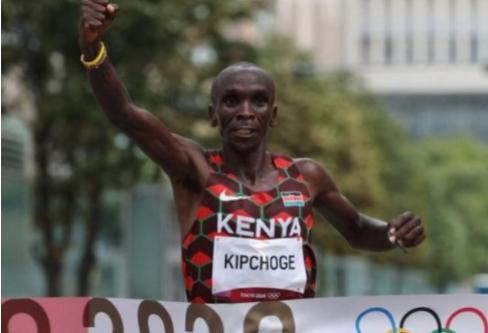 Eliud Kipchoge successfully Olympic marathon