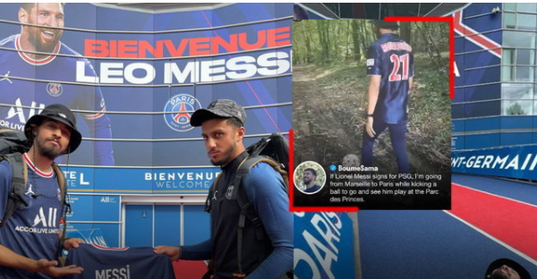 """""""French YouTuber"""" walked from Marseille to Paris under Messi contract"""