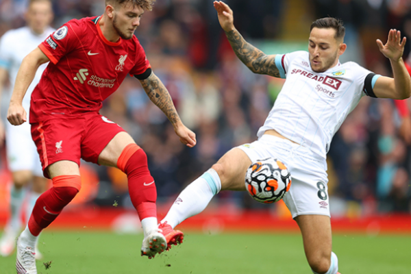 Liverpool beat Burnley 2-0, picked up six points